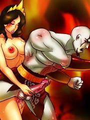 Kratos and the Goddess of Lust^She Ani Male futanari porn sex xxx futa shemale cartoon toon drawn drawing hentai gay tranny