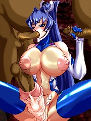 Futanari toons big dick girls