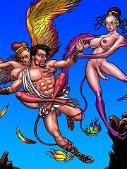 Shemale fairies use and abuse fallen Greek man^She Ani Male futanari porn sex xxx futa shemale cartoon toon drawn drawing hentai gay tranny